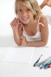 Het gelukkige Meisje van de School Stock Afbeeldingen