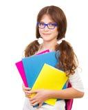Het gelukkige Meisje van de School Stock Foto's