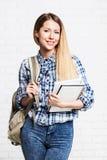 Het gelukkige Meisje van de Student Royalty-vrije Stock Fotografie