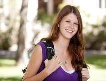 Het gelukkige Meisje van de Universiteit Stock Foto's
