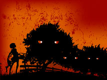 Het gelukkige meisje van Halloween in kwaad Royalty-vrije Stock Foto's