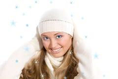 Het gelukkige meisje van het portret stock foto