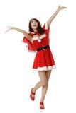 Het gelukkige meisje van Kerstmis royalty-vrije stock afbeelding