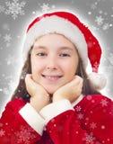 Het gelukkige Meisje van Kerstmis Royalty-vrije Stock Afbeeldingen