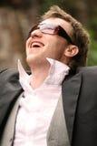 Het gelukkige mens lachen royalty-vrije stock afbeeldingen