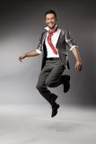Het gelukkige mens springen Stock Fotografie