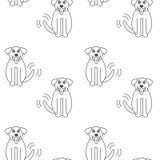 Het gelukkige naadloze patroon van de Sint-bernardhond Royalty-vrije Stock Foto