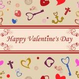 Het gelukkige naadloze patroon van de Valentijnskaartendag Stock Fotografie