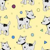Het gelukkige naadloze patroon van de Verjaardagspartij Stock Foto