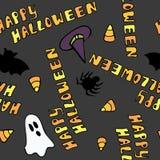 Het gelukkige Naadloze Patroon van Halloween Stock Afbeelding