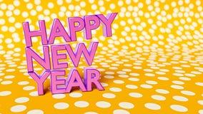 Het gelukkige nieuwe jaar 3d teruggeven Royalty-vrije Stock Afbeeldingen