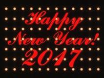 Het gelukkige nieuwe jaar 2017 3d teruggeven Royalty-vrije Stock Foto's