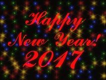 Het gelukkige nieuwe jaar 2017 3d teruggeven Stock Afbeelding