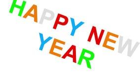 Het gelukkige nieuwe jaar - 30fps-lijn - verdeelde speelse kleurrijke brieven tweede willekeurig stock videobeelden