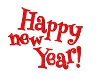 Het gelukkige nieuwe jaar geïsoleerd van letters voorzien Stock Foto