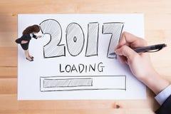 Het gelukkige nieuwe jaar laadt Stock Foto