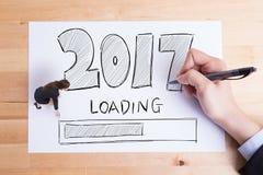 Het gelukkige nieuwe jaar laadt Stock Afbeeldingen