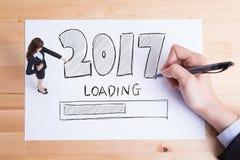 Het gelukkige nieuwe jaar laadt Stock Foto's