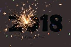 het gelukkige nieuwe jaar van 2018 Stock Afbeeldingen