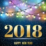 Het gelukkige Nieuwe Jaar van 2018 Royalty-vrije Stock Foto's