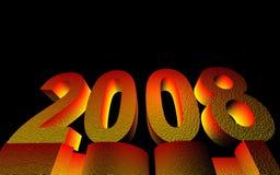 het gelukkige nieuwe jaar van 2008 Stock Fotografie