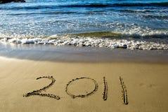 het gelukkige nieuwe jaar van 2011 Stock Foto's