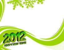 het gelukkige nieuwe jaar van 2012 Stock Foto