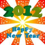 het gelukkige nieuwe jaar van 2012 Royalty-vrije Stock Afbeeldingen