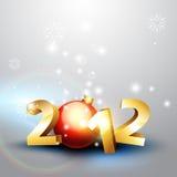 het gelukkige nieuwe jaar van 2012 Stock Fotografie