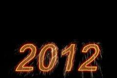 Het gelukkige nieuwe jaar van 2012. Stock Fotografie
