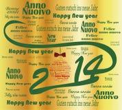 het gelukkige nieuwe jaar van 2014 Stock Afbeeldingen
