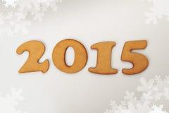 Het gelukkige nieuwe jaar van 2015 Stock Afbeelding