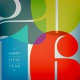Het gelukkige nieuwe jaar van 2016 Royalty-vrije Stock Afbeelding