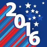Het gelukkige nieuwe jaar van 2016 Stock Illustratie
