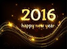 Het gelukkige nieuwe jaar van 2016 Vector Illustratie
