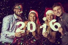 Het gelukkige nieuwe jaar van 2016 Stock Afbeeldingen