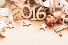 Het gelukkige nieuwe jaar van 2016 Stock Afbeelding
