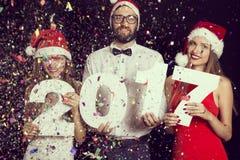 Het gelukkige nieuwe jaar van 2017 Stock Afbeelding