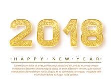 het gelukkige nieuwe jaar van 2018 vector illustratie