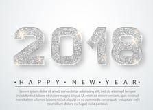 het gelukkige nieuwe jaar van 2018 Royalty-vrije Stock Fotografie