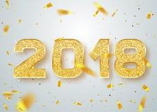 het gelukkige nieuwe jaar van 2018 royalty-vrije illustratie