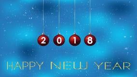 het gelukkige nieuwe jaar van 2018 stock illustratie