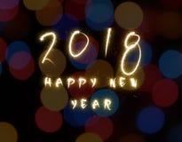het gelukkige nieuwe jaar van 2018 Stock Fotografie