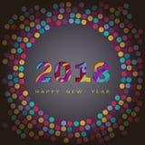 het gelukkige nieuwe jaar van 2018, abstracte ontwerp 3d, vectorillustratie Stock Foto's