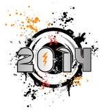 het gelukkige nieuwe jaar van de discodans Stock Foto's