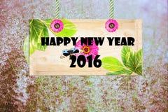 Het gelukkige nieuwe jaar voorziet van wegwijzers Royalty-vrije Stock Foto's