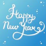 Het gelukkige nieuwe jaarhand van letters voorzien Royalty-vrije Stock Afbeelding