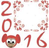 Het gelukkige nieuwe Ontwerp van de jaar 2016 Tekst Vector Illustratie