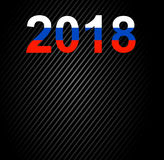 Het gelukkige nieuwe ontwerp van de jaar 2018 tekst Stock Afbeeldingen