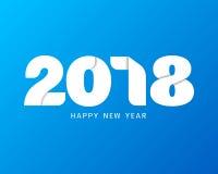 Het gelukkige nieuwe ontwerp van de jaar 2018 tekst Moderne tekst met document ambacht st Stock Foto